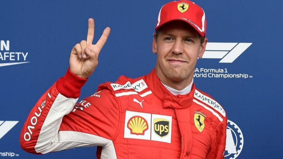 Sebastian Vettel durante el Gran Premio de Bélgica