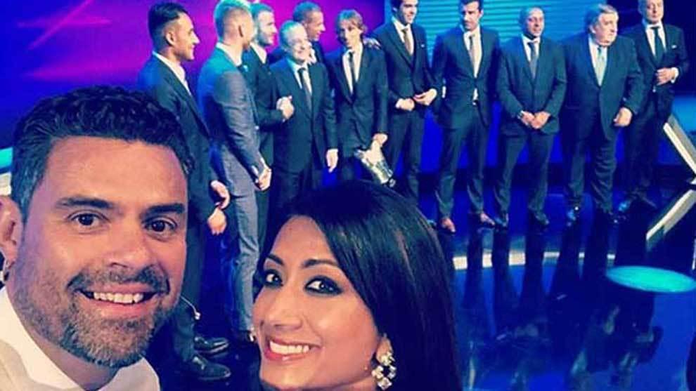 Reshmin Chowdhury volvió a presentar la Gala de la UEFA para el...