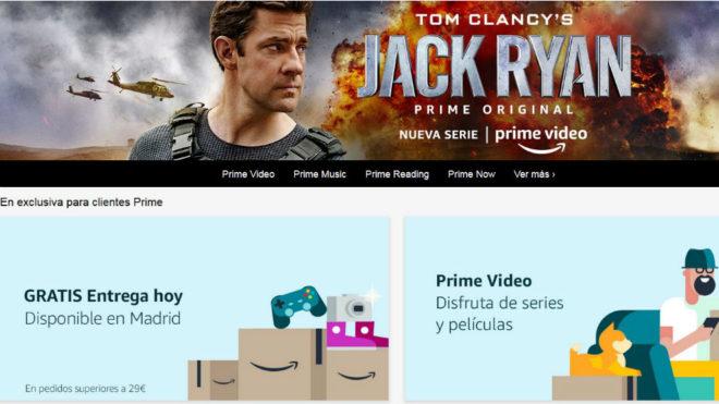 Portal de Amazon Prime para sus clientes.