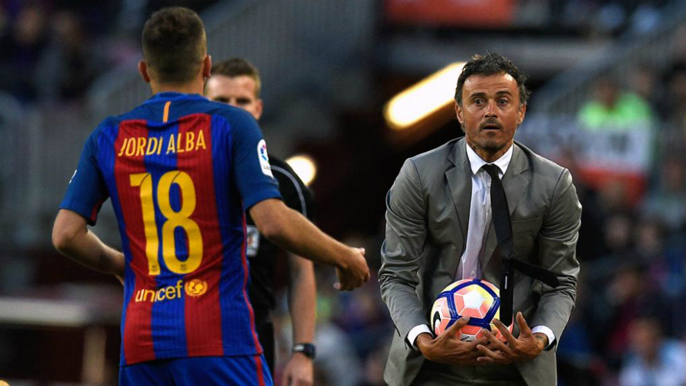 Jordi Alba and Luis Enrique