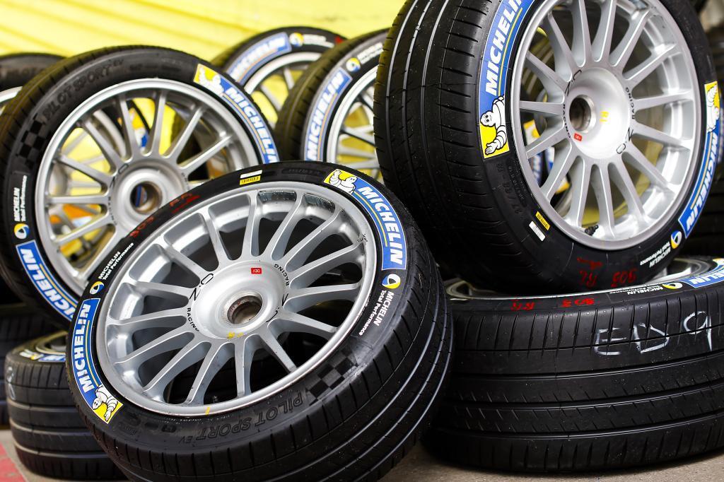 Actuales neumáticos de Michelin para la Formula E.