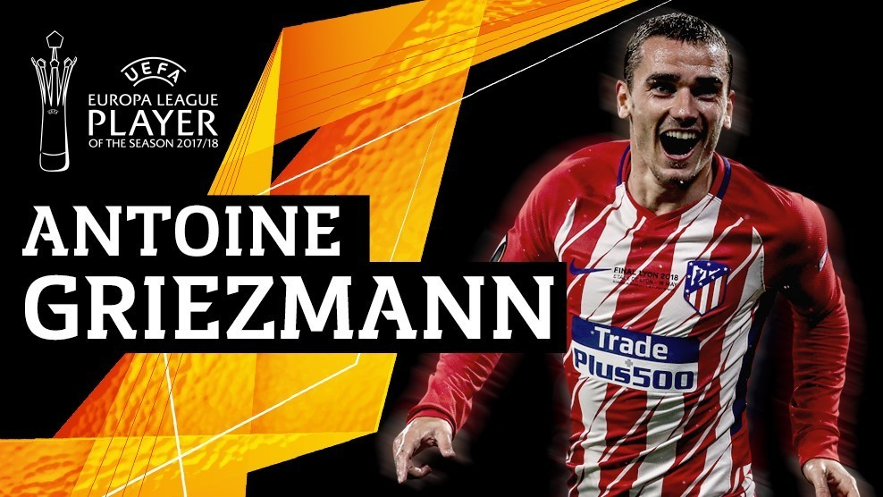 Antoine Griezmann voted as the Europa League's best player.