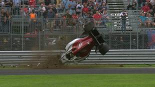 Imagen del accidente de Marcus Ericsson