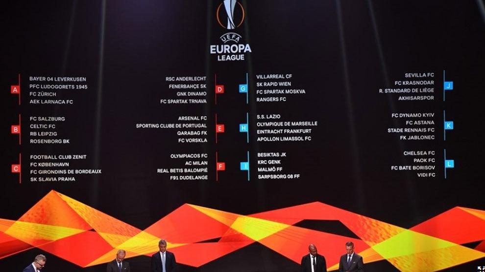 Calendario Milan Europa League.Europa League Calendario De La Fase De Grupos De La Europa