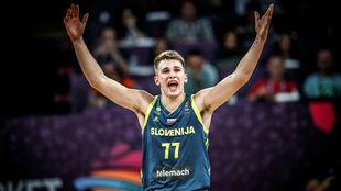 Luka Doncic durante el Eurobasket de 2017