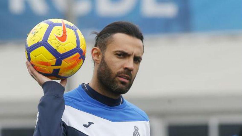 Sergio Sánchez, durante un entrenamiento.