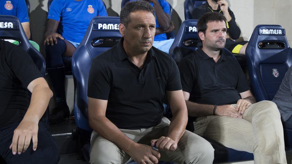 Eusebio durante el partido ante el Villarreal.