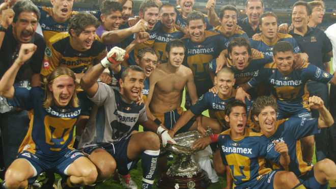 Pumas celebra la obtención del Trofeo Santiago Bernabeú