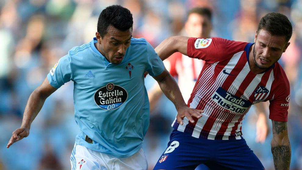 Atletico midfielder Saul Niguez