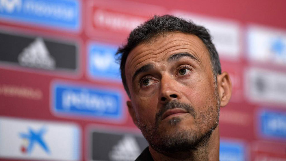 Luis Enrique attends Real Madrid's clash with Leganes