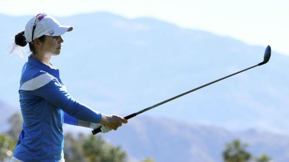 Beatriz Recari durante un torneo en California.