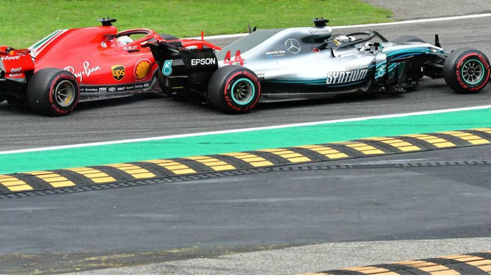 Hamilton pasa a Vettel.