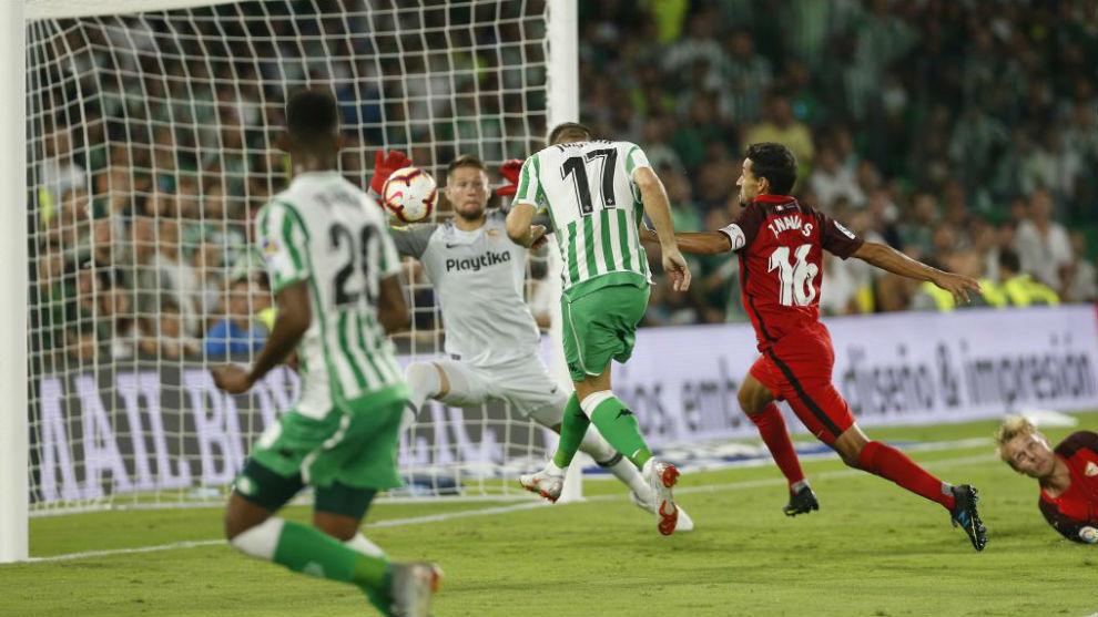 Betis midfielder Joaquin scores.