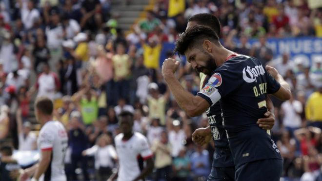 Oribe Peralta abrió el marcador en la Benemérita de Puebla.