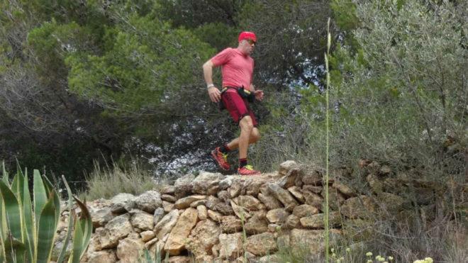 Carles Aguilar, en uno de sus retos.