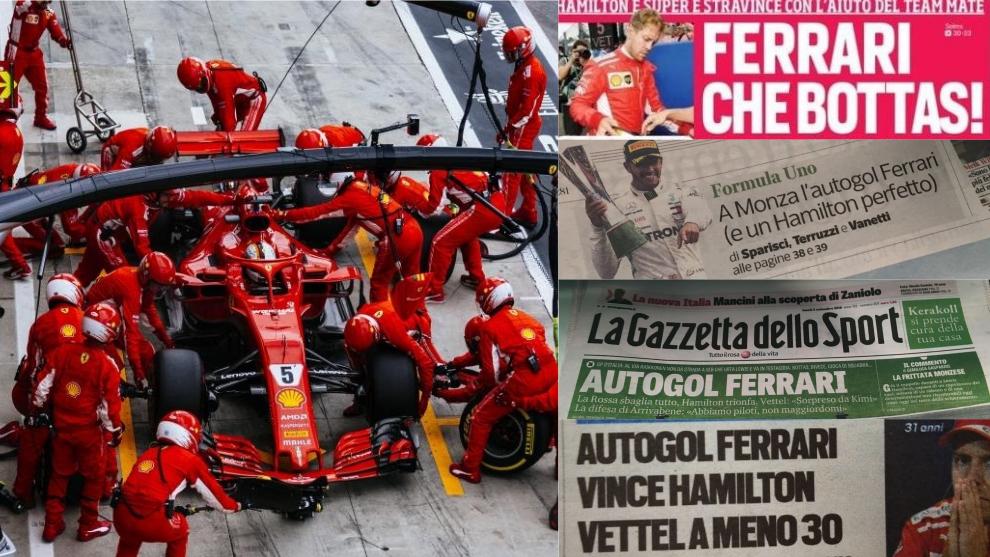 Portadas de la prensa italiana