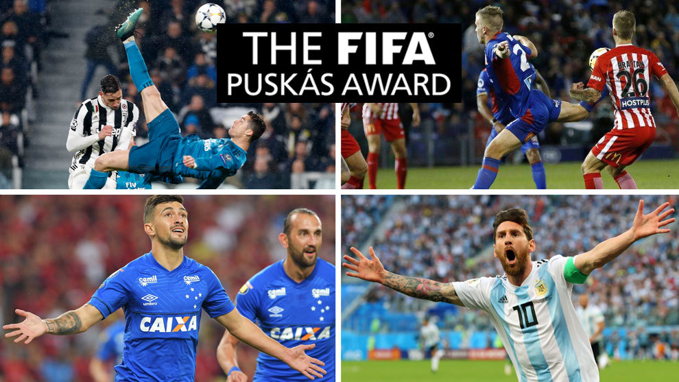 The 10 candidates for the 2018 Puskas award