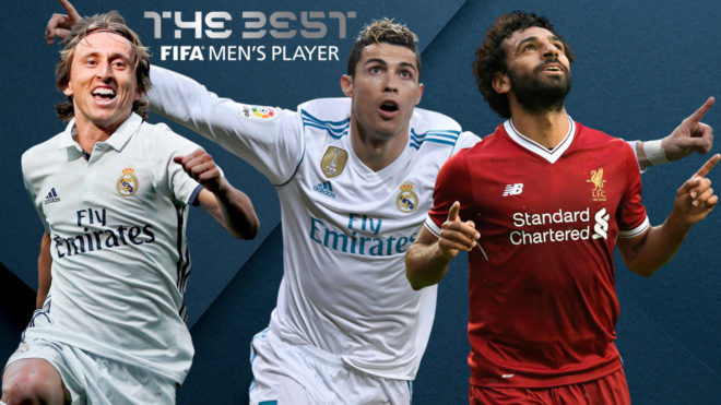 Ronaldo, Modric and Salah finalists for FIFA's 'The Best' Men's Player award