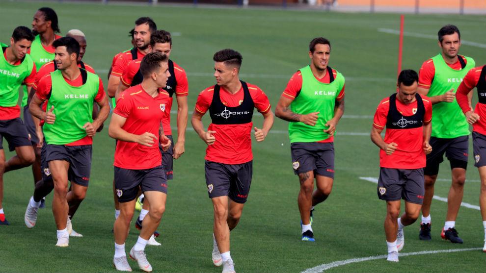 Imagen de un entrenamiento del Rayo Vallecano.