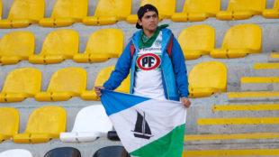 Sebastián Carrera, en la grada del estadioFrancisco Sánchez...