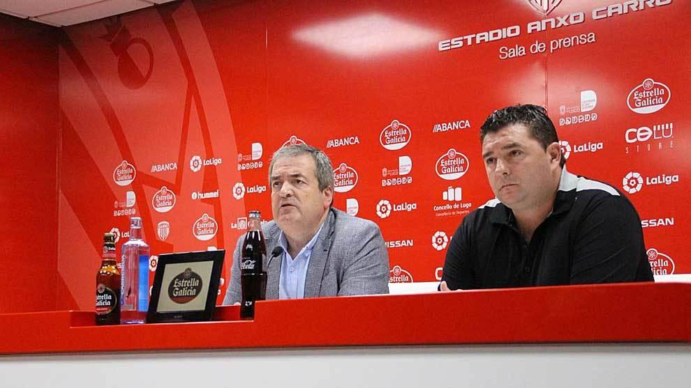 El presidente Tino Saqués junto a Emilio Viqueira este lunes