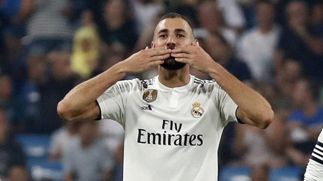 Real Madrid's forward Karim Benzema