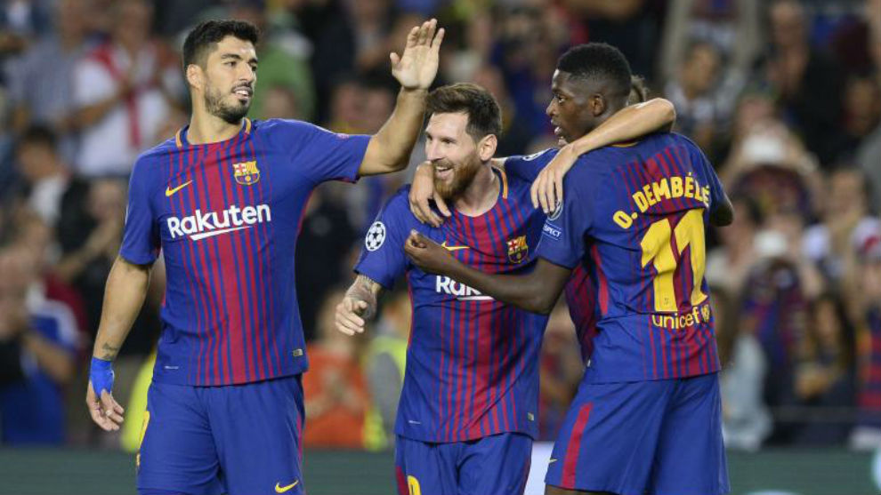 Messi, Suarez and Dembele