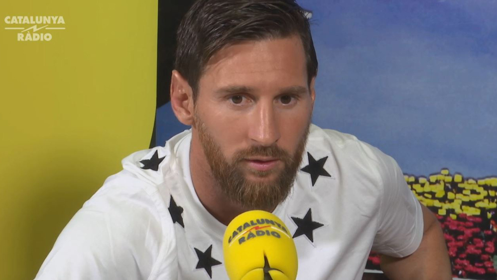 Messi was talking to Catalan radio