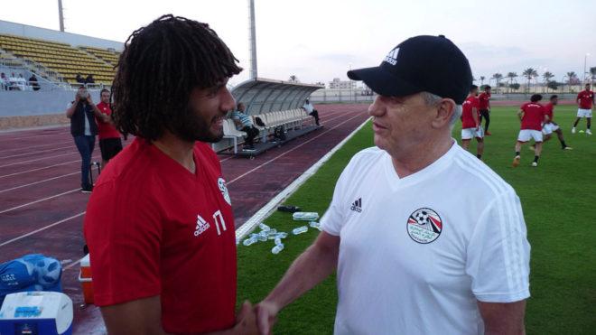 Javier Aguirre realiza primer entrenamiento con Egipto.