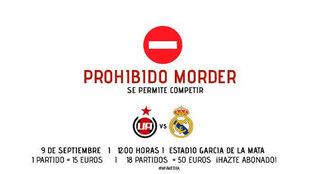 Así promociona el Adarve su próximo encuentro contra el Real Madrid...