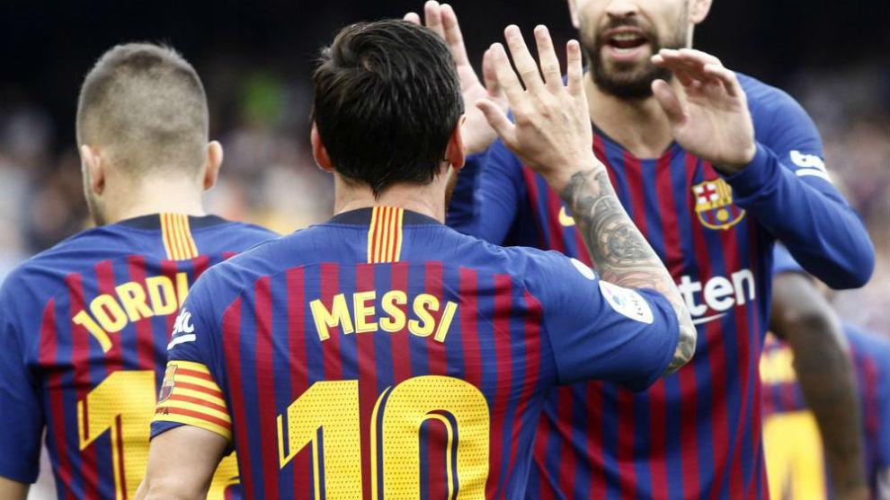 Leo Messi, durante el partido contra el Huesca.