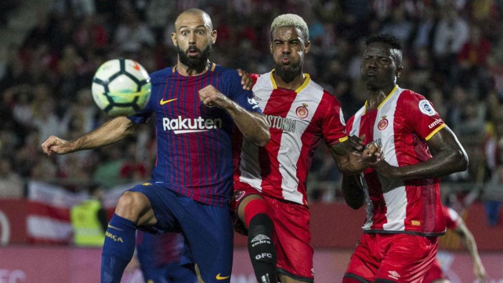 Partido entre el Girona y el Barcelona de la temporada pasada.