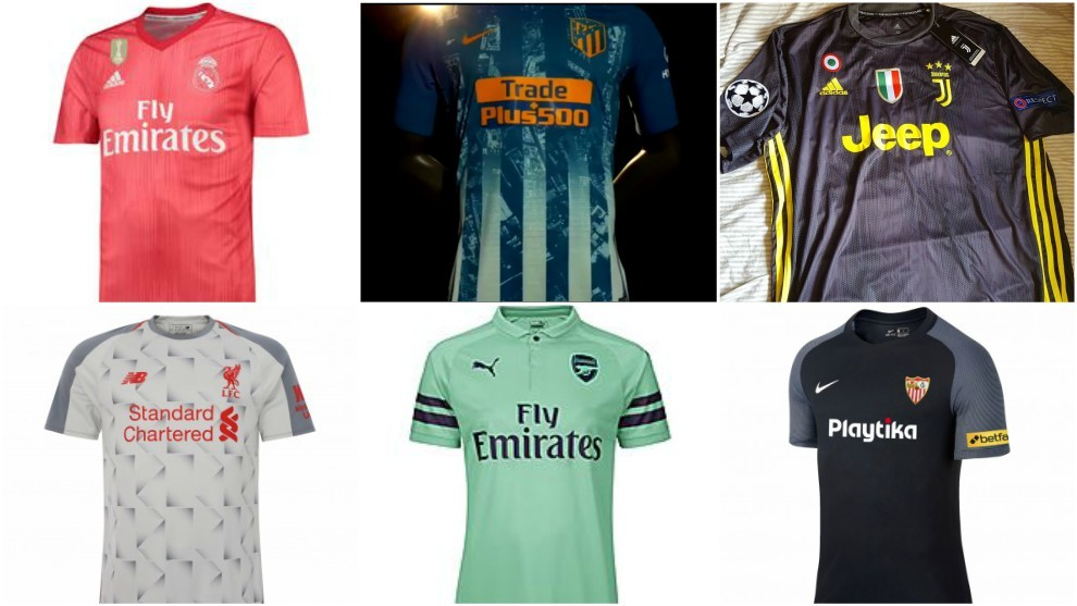 The third strips of LaLiga Santander clubs and top European sides