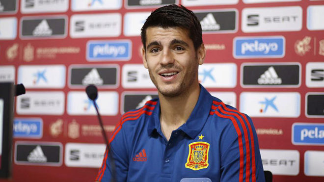 Spanish forward Alvaro Morata.