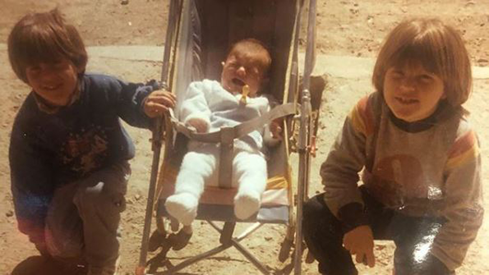 The viral photo of Messi as a baby