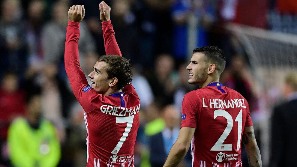 Image result for Lucas Hernandez with Antoine Griezmann