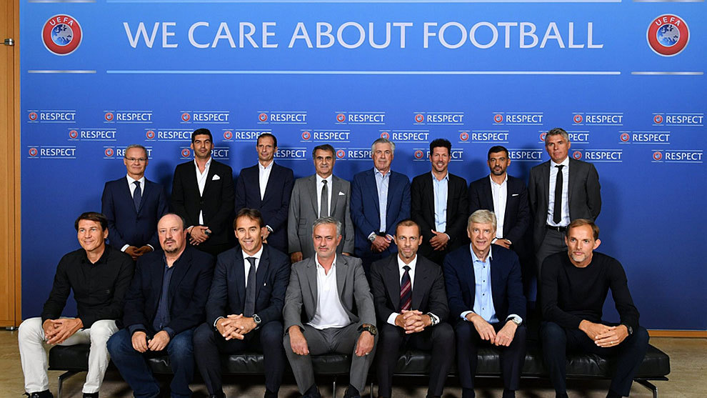 Attendees during the UEFA Elite Coaches Forum in Nyon