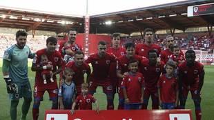 El once titular del Numancia ante el Cádiz, único partido jugado en...