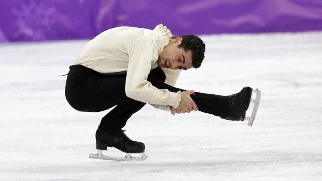 Javier Fernández, en los Juegos Olímpicos de Pyeongchang.