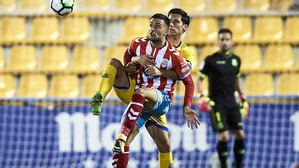 Cristian Herrera, durante el partido del Lugo en Alcorcón la pasada...