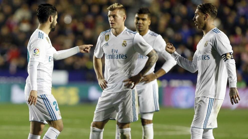 Isco, Kroos, Casemiro and Ramos
