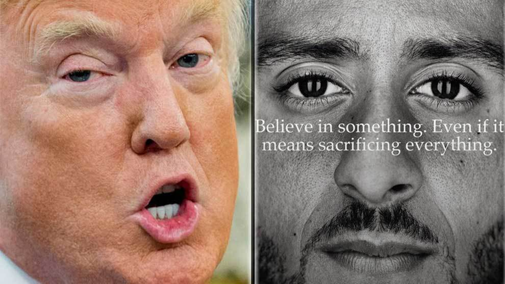 "Donald Trump y la campaña ""Just Do It' de Nike para su 30 aniversario..."