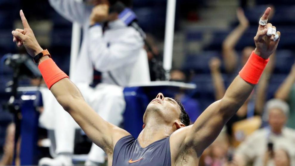 Rafael Nadal celebra su triunfo