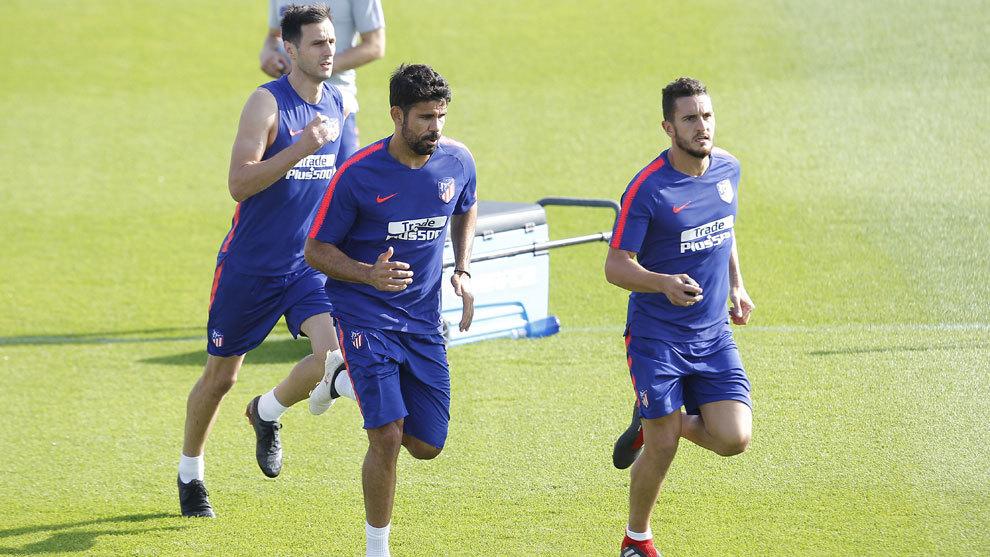 Diego Costa, Koke y Kalinic, los tres jugadores de campo sanos con los...