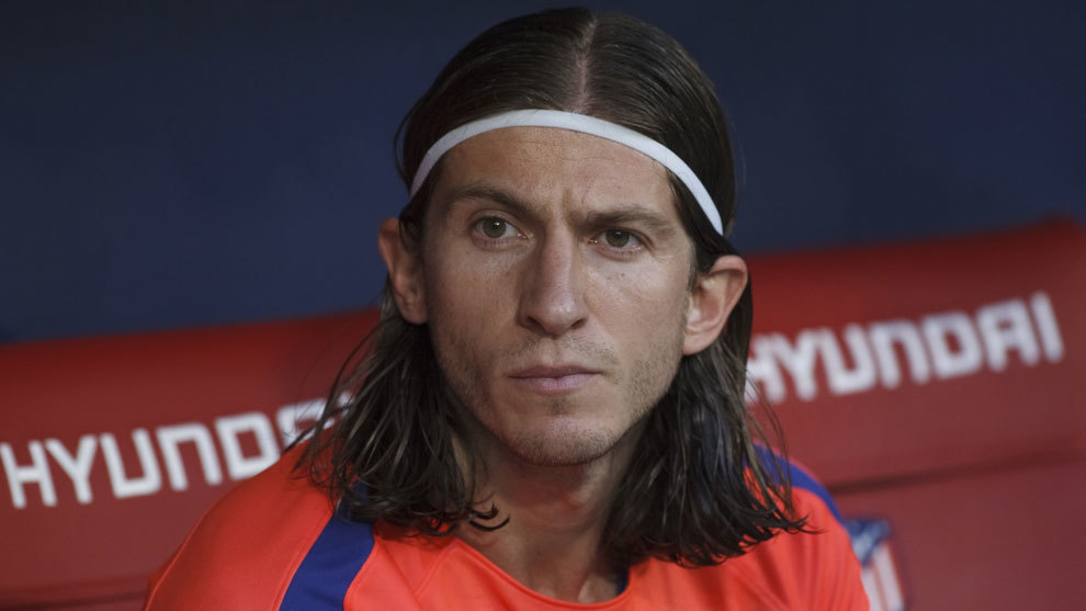 Atletico Madrid left-back Filipe Luis
