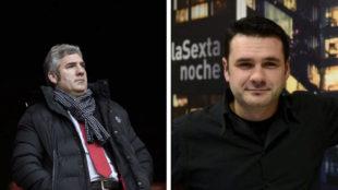 Josu Urrutia e Iñaki López, enfrentados en el palco de San Mamés.