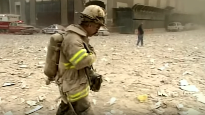 A previously unpublished video of 9/11 - 17 years after the attacks