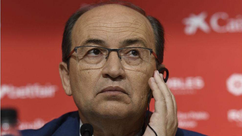 José Castro (59), en sala de prensa.