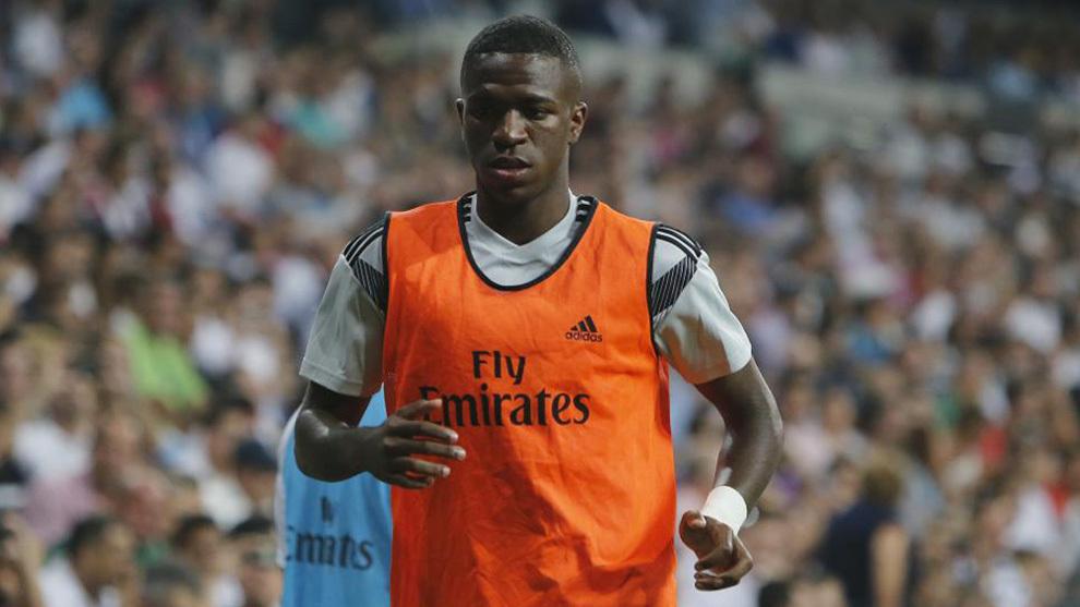 Real Madrid's Brazilian forward Vinicius Jr.
