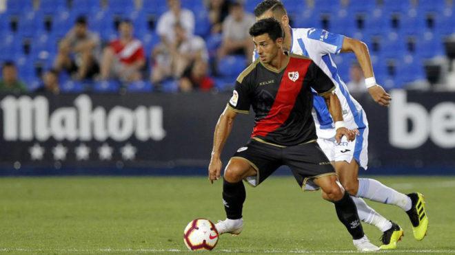 Instante del amistoso Leganés-Rayo que se jugó en la pretemporada.